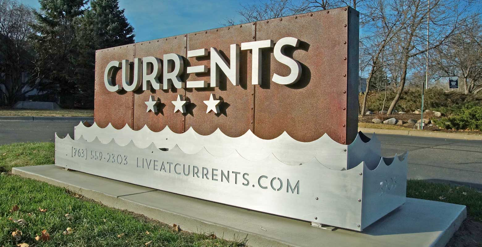 Currents Monument Sign
