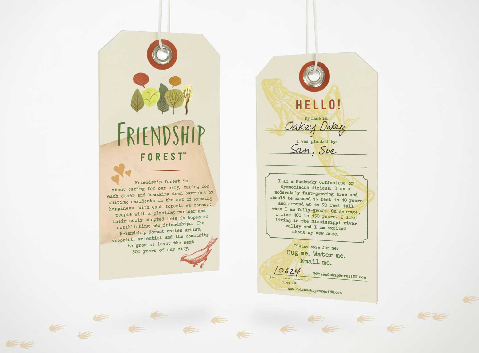 Friendship Forest Tree Tags