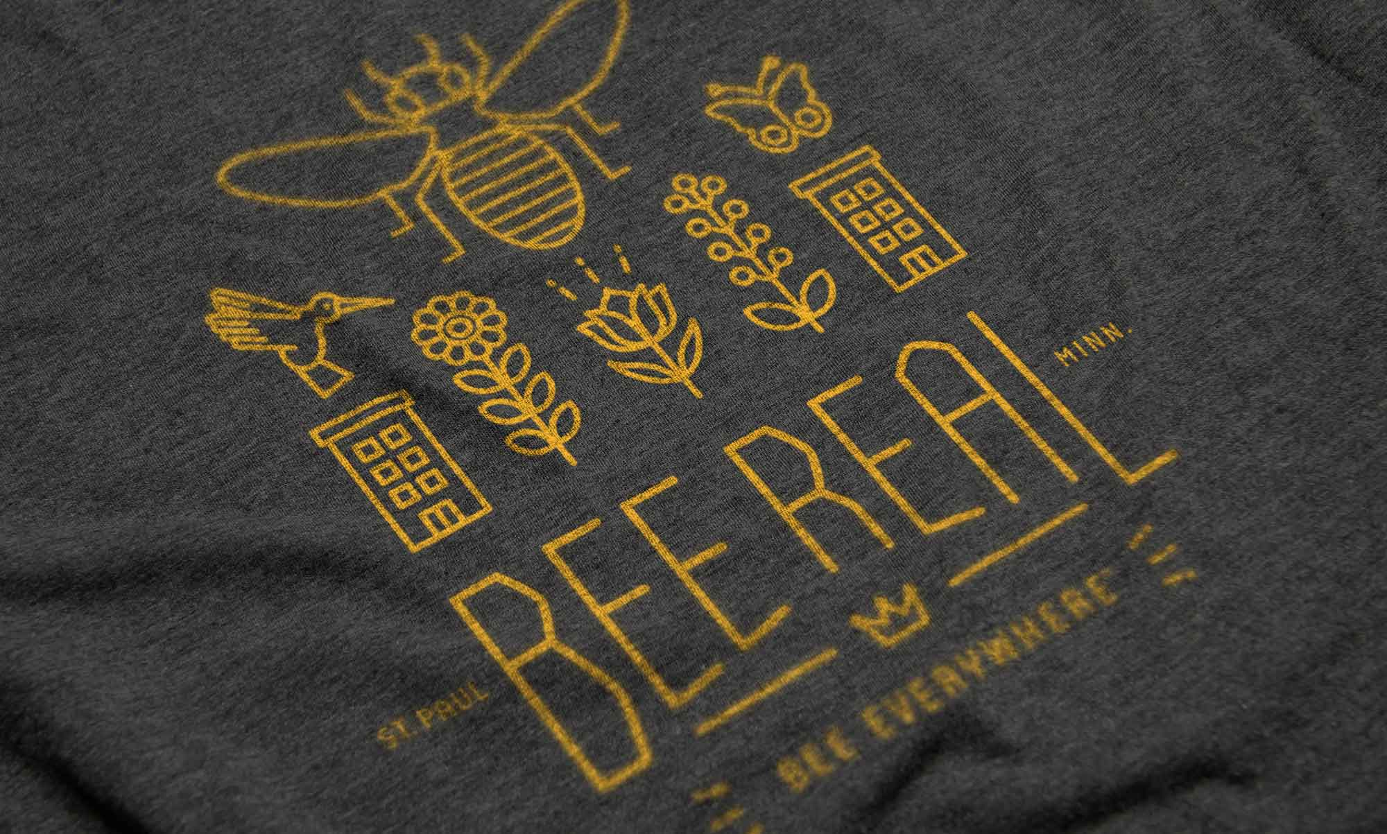 Bee Real Everywhere - T-shirt Detail
