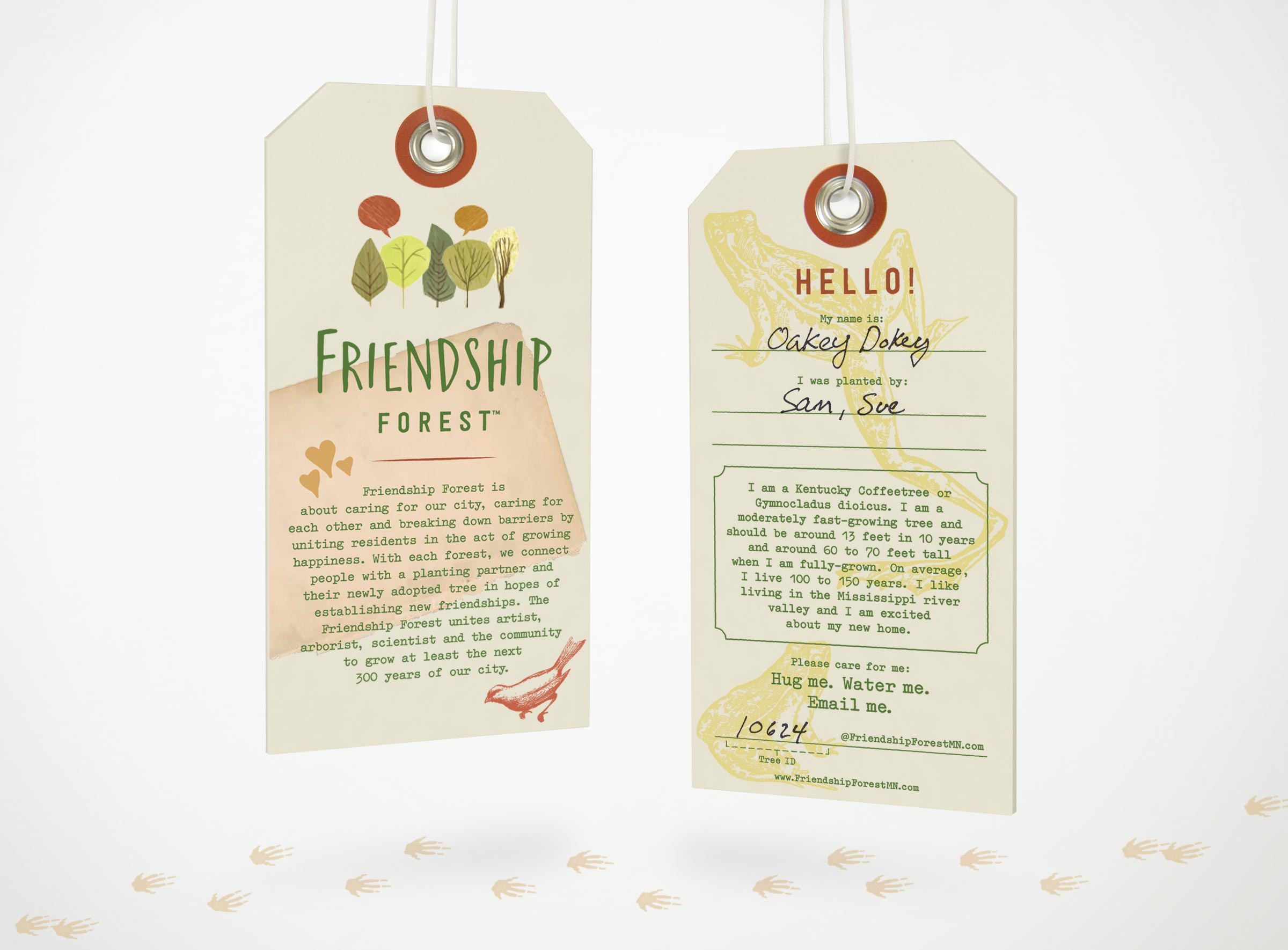 Friendship Forest Tree Tag