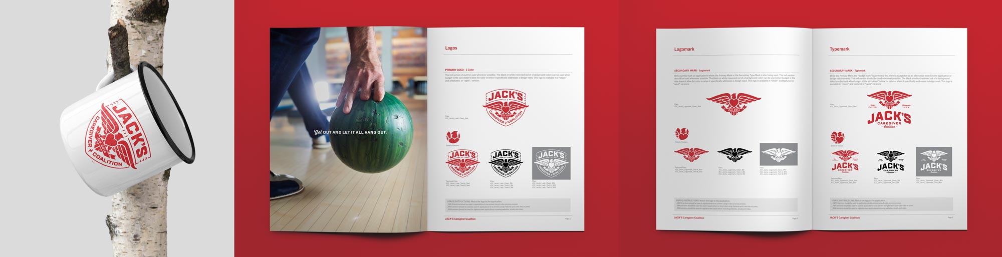Jack's Caregiver Coalition - Branded Mug & Brand Guidelines