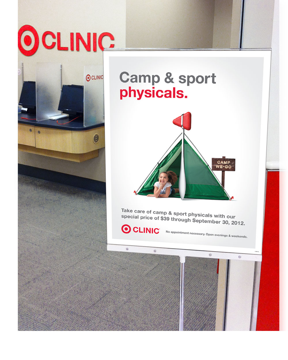 Target Clinic Stanchion